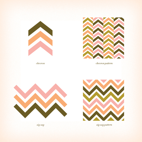 Screen left: Chevron Screen right: Zigzag